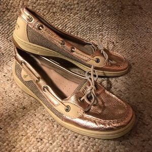 Sperry Top-Sider Angelfish Rose Gold Boat Shoes